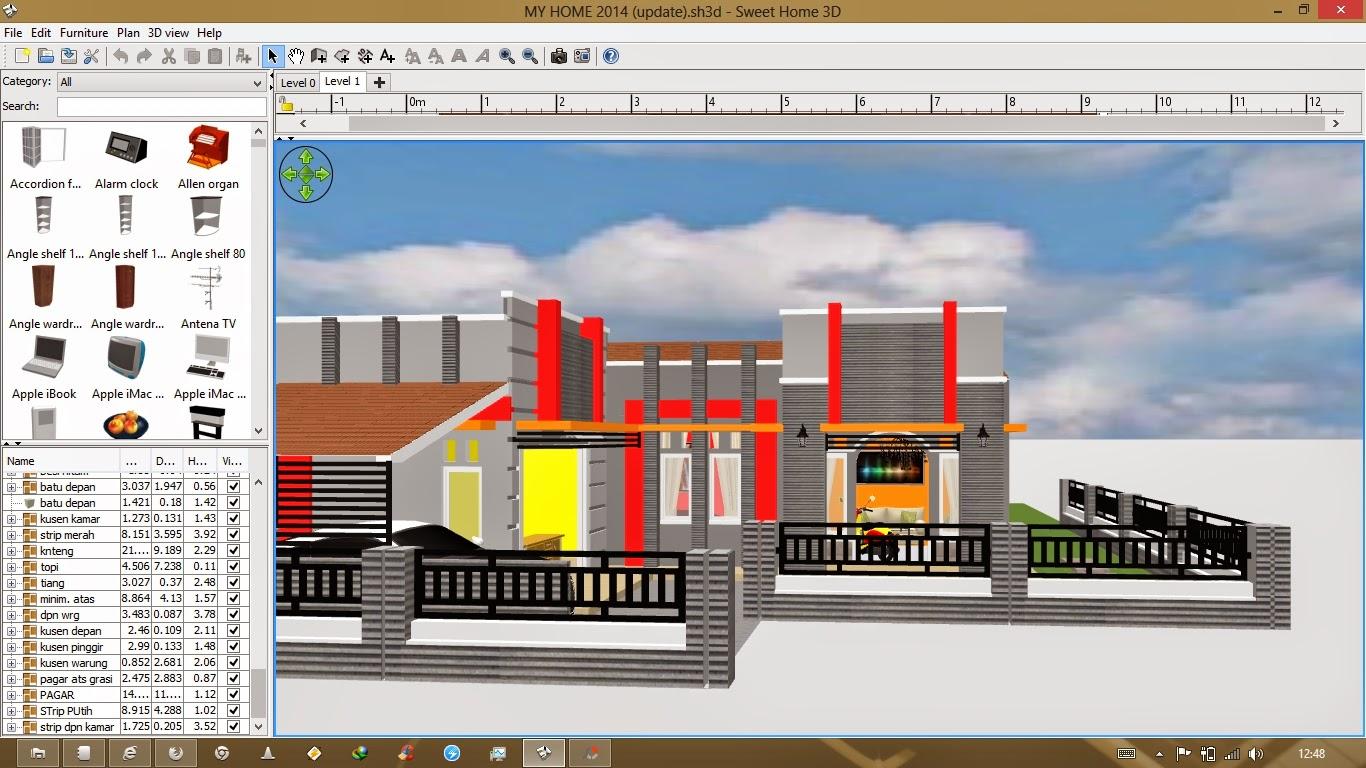 Cara Membuat Desain Rumah 3D Dengan Sweet Home 3D Madridista7